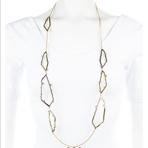 Alexis Bittar two tone necklace